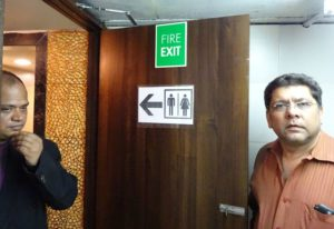 1 False Fire Exit sign no 2 -- Golden Chariot