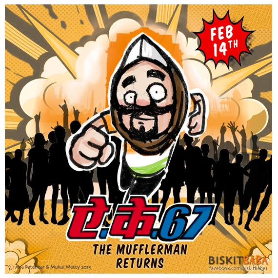 #AK67 - The Mufflerman returns #cartoon by @biskitbaba