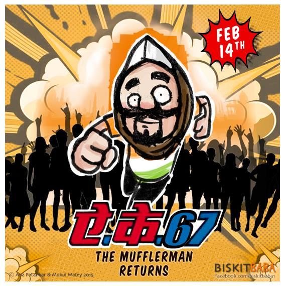 #AK67 - The Mufflerman returns #cartoon by @biskitbaba