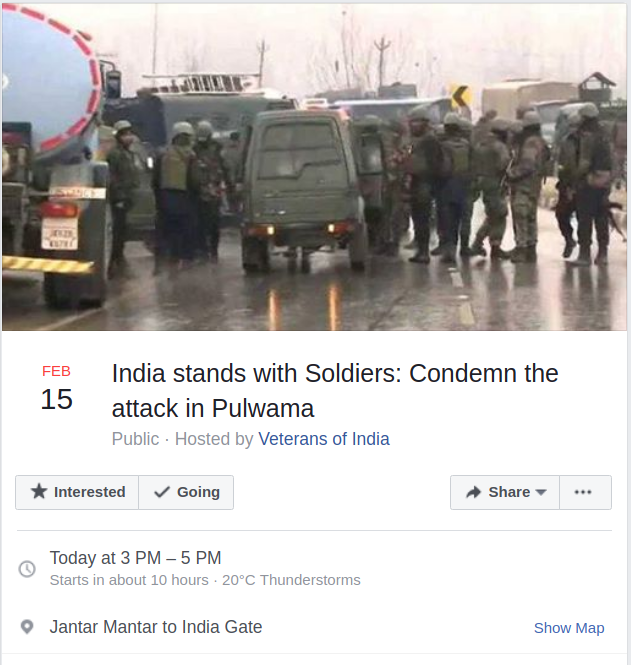 12 India stands with Soldiers Condemn the attack in Pulwama