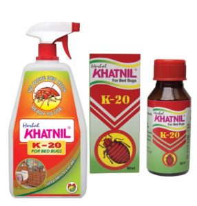 bottles of pesticide khatnil