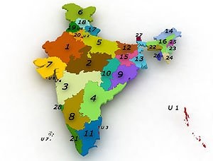 India stares and union territories