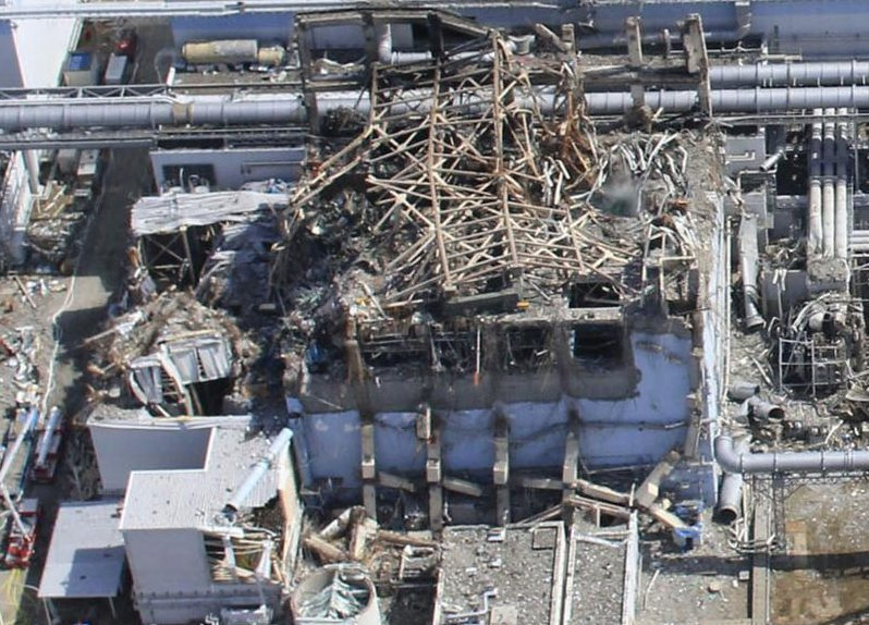 Rubble of the reactor 3 at fukushima