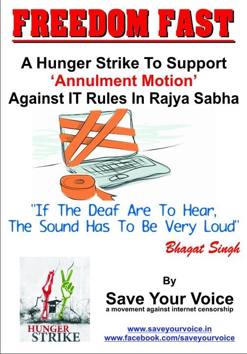 Hunger Strike protesting IT Rules
