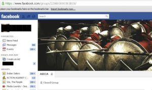 AICCA page on Facebook