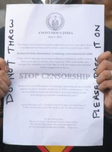 Leaflet distrubuted at the Kolkata protest