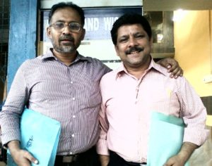 Krish and Sulaiman at Bhimani's office