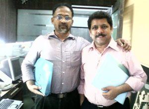 Krish and Sulaiman at Bhimani's office