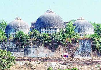 Rear view of Babri Masjid in Ayodhya. Source: wikimedia commons