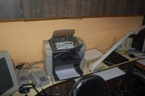 Smashed printer-scanner