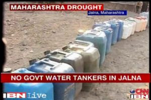 screenshot of report from Jalna saying no government tankers were providing water