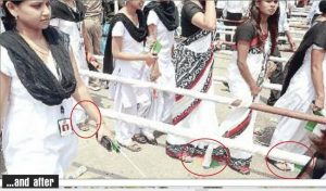 Indian Flag trampled at Sahara India Parivar Event