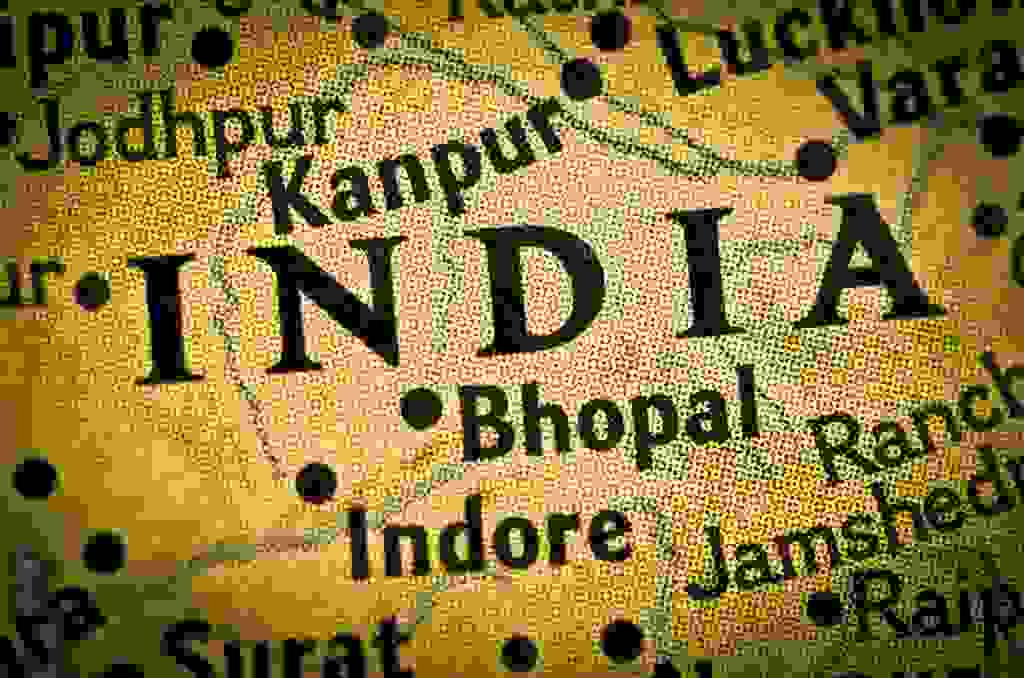 map of India showing cities Bhopal Indore Jodhpur Ranchi Jamshedpur Lucknow