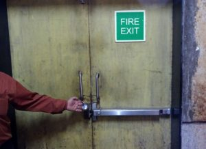 5 Chain locked -- Hub mall ground floor fire exit 1