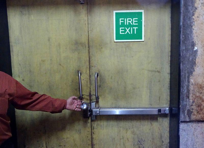 Exit Doors Locked Amp Labels