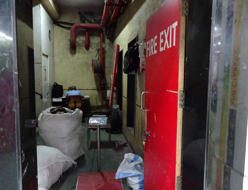 7 What lies inside Big Bazaar's fire exit
