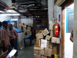 8 Big Bazaar uses Fire Escape for storage and backroom operations