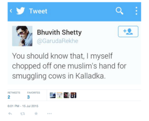 Complaint filed against Bhuvith Shetty, co-convenor of Bajrang Dal's Bantwal cell