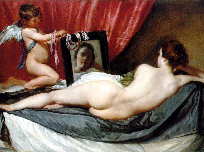 Venus, at her mirror, by Diego Velaquez