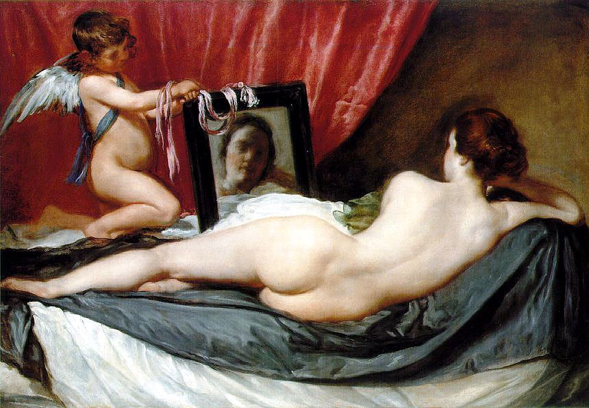 Venus, at her mirror, by Diego Velaquez