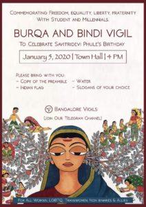 Burqa & Bindi Vigil #Bangalore