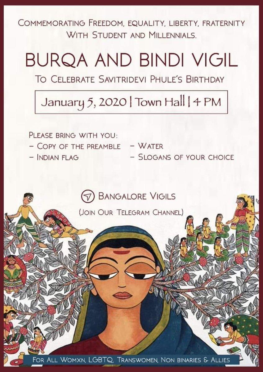 Burqa & Bindi Vigil #Bangalore 1