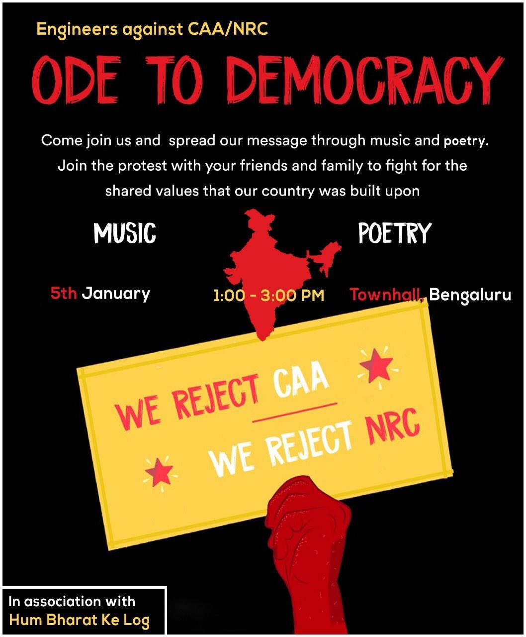 Ode to Democracy #Bangalore 1