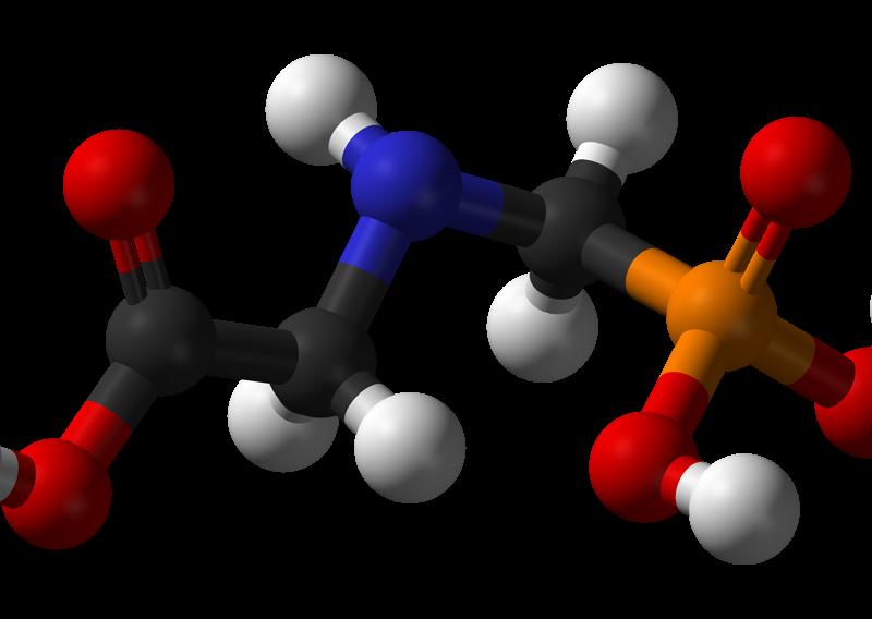 Glyphosate structure 3D balls
