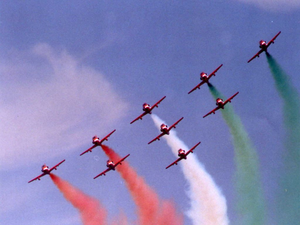 Indian Air Force tricolor formation
