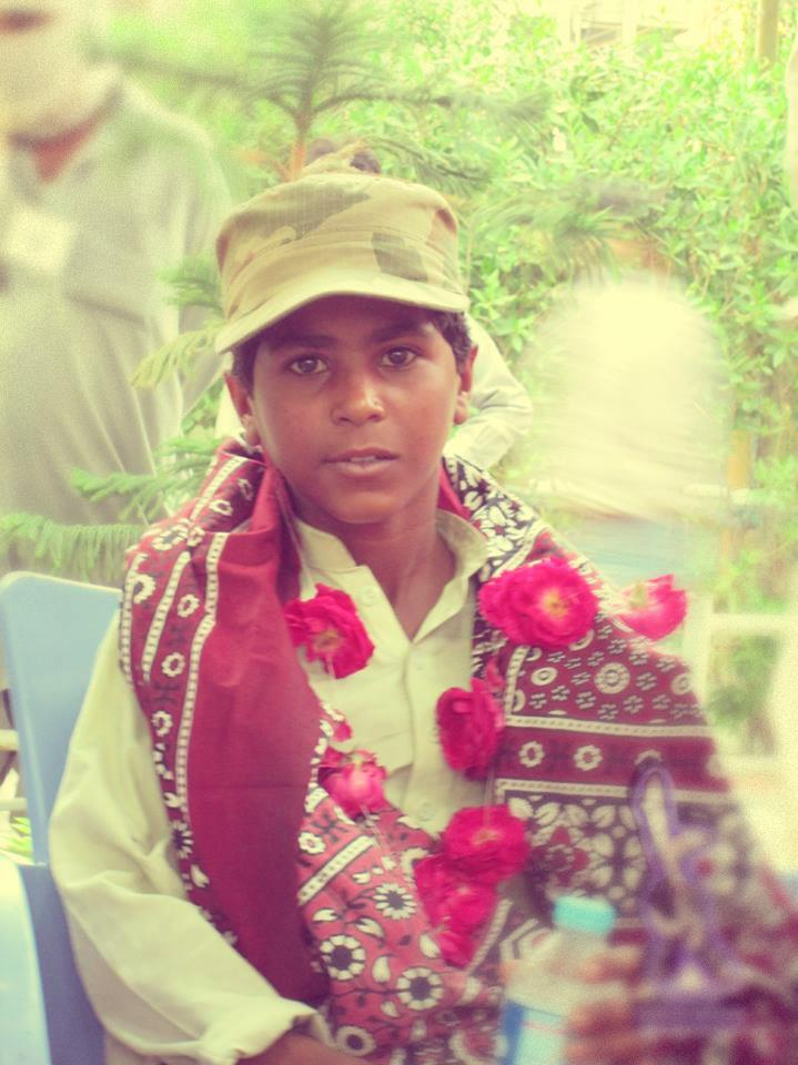 young Baloch protester at Long March