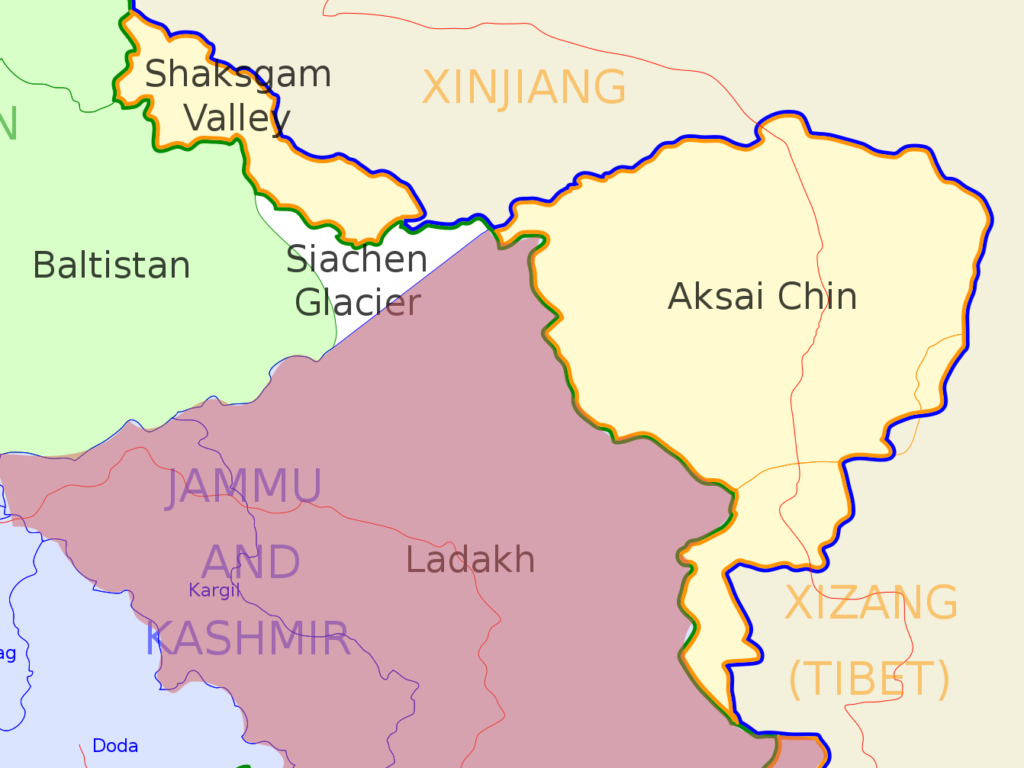 Ladakh and India-China disputed territory