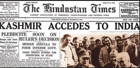 Kashmir Accedes to India