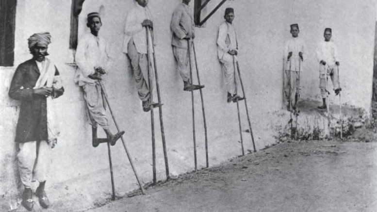 Kunbi Boys on Stilts during Pola festival in 1916