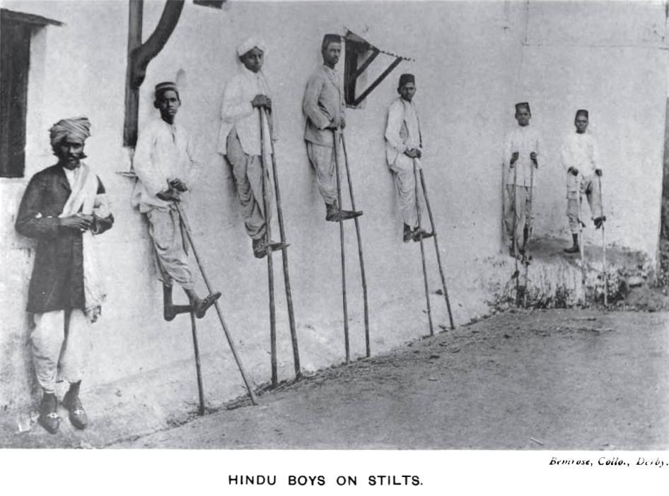 Kunbi Boys on Stilts during Pola festival in 1916