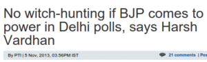 No witch-hunting if BJP comes to power in Delhi polls, says Harsh Vardhan