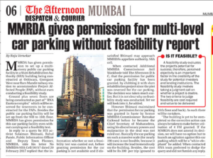 RNA MMRDA gives multilevel parking permission without feasibility report