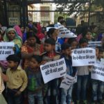 RTF and NFIW Protest Against Attack on Children's Right to Food by making Aadhaar compulsory in Mid –Day - Meal