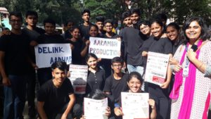 Street play by Aarambh about dangers of Aadhaar