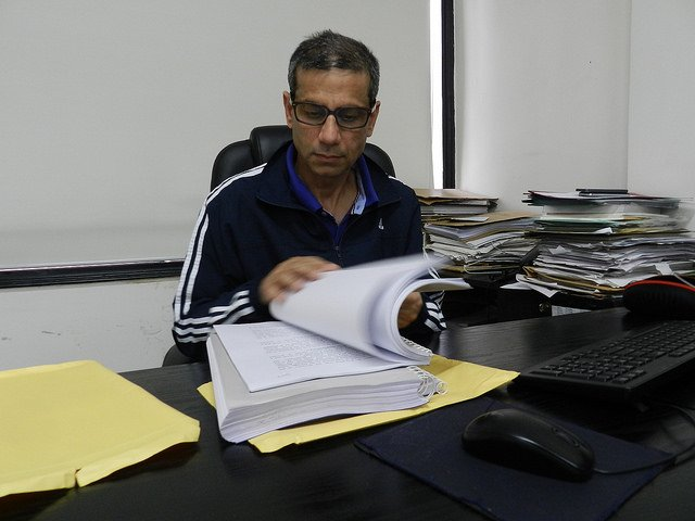 Advocate Mehmood Pracha at his Defence Colony office.