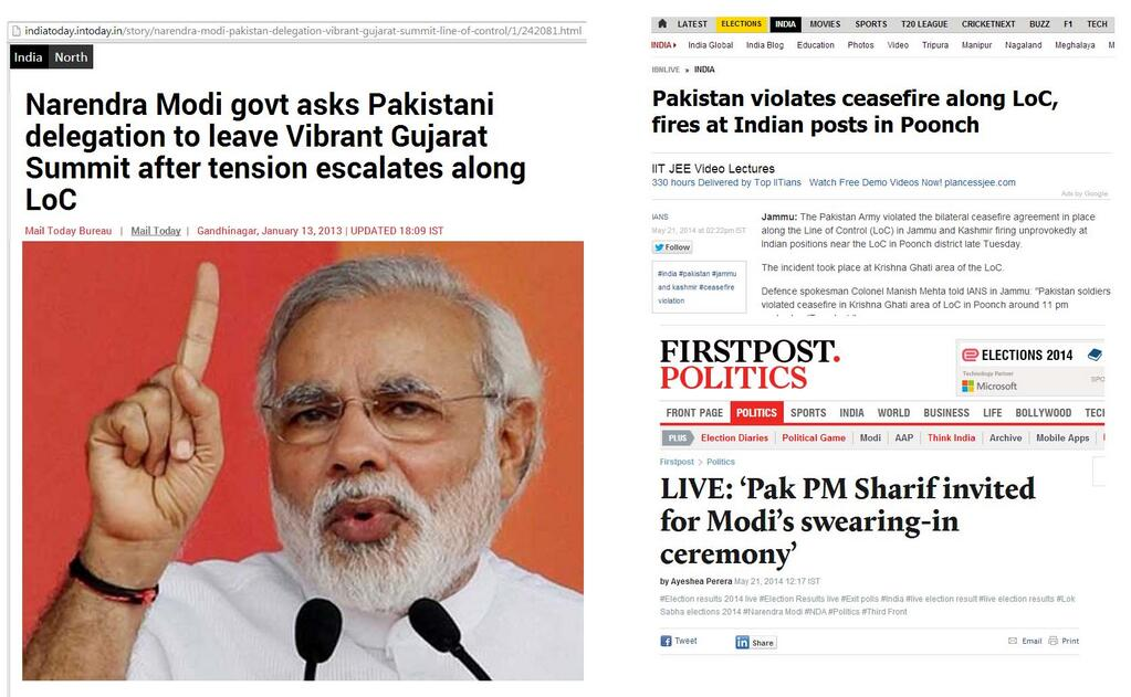 Modi on LoC conflicts and relations with Pakistan before and after