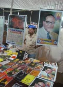Stall selling calenders and books of Dr. Babasaheb Ambedkar