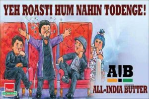 Amul butter cartoon supporting AIB