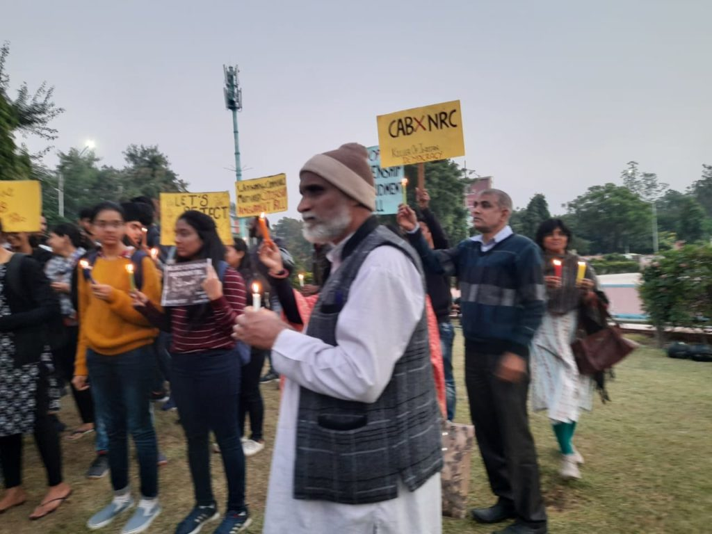 Human Rights Day observed on the streets of Jaipur protesting CAB and NRC 12