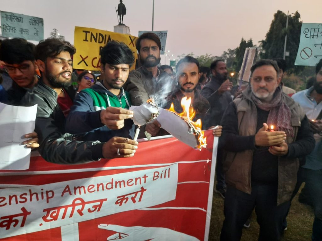 Human Rights Day observed on the streets of Jaipur protesting CAB and NRC 2