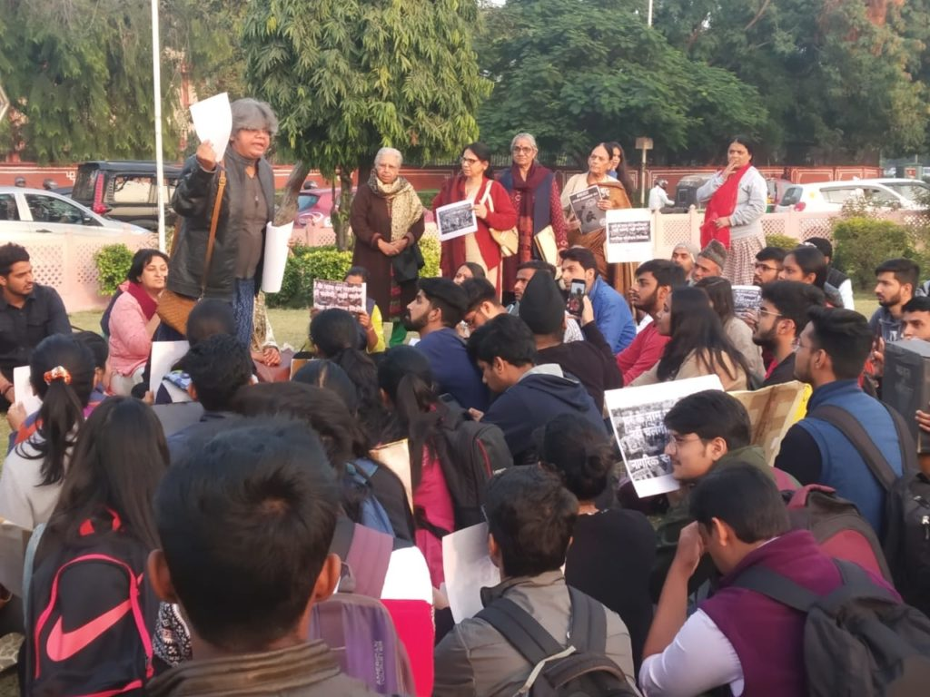 Human Rights Day observed on the streets of Jaipur protesting CAB and NRC 19