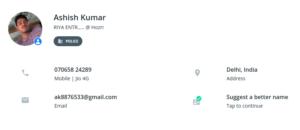 Ashish Kumar - truecaller