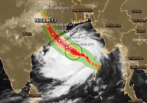 Cyclone Phailin high humanitarian impact