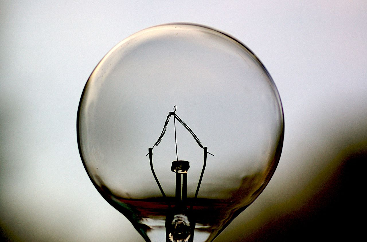 Electric bulb monochrome