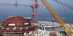During installation of dome at Flamanville Nuclear Plant