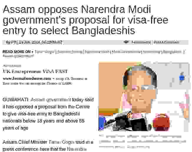 Visa-free entry to Bangladeshis under 18 years and over 65 years